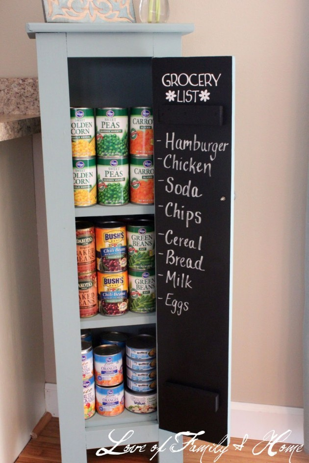 8 Use Chalkboard Door for Your Pantry via simphome