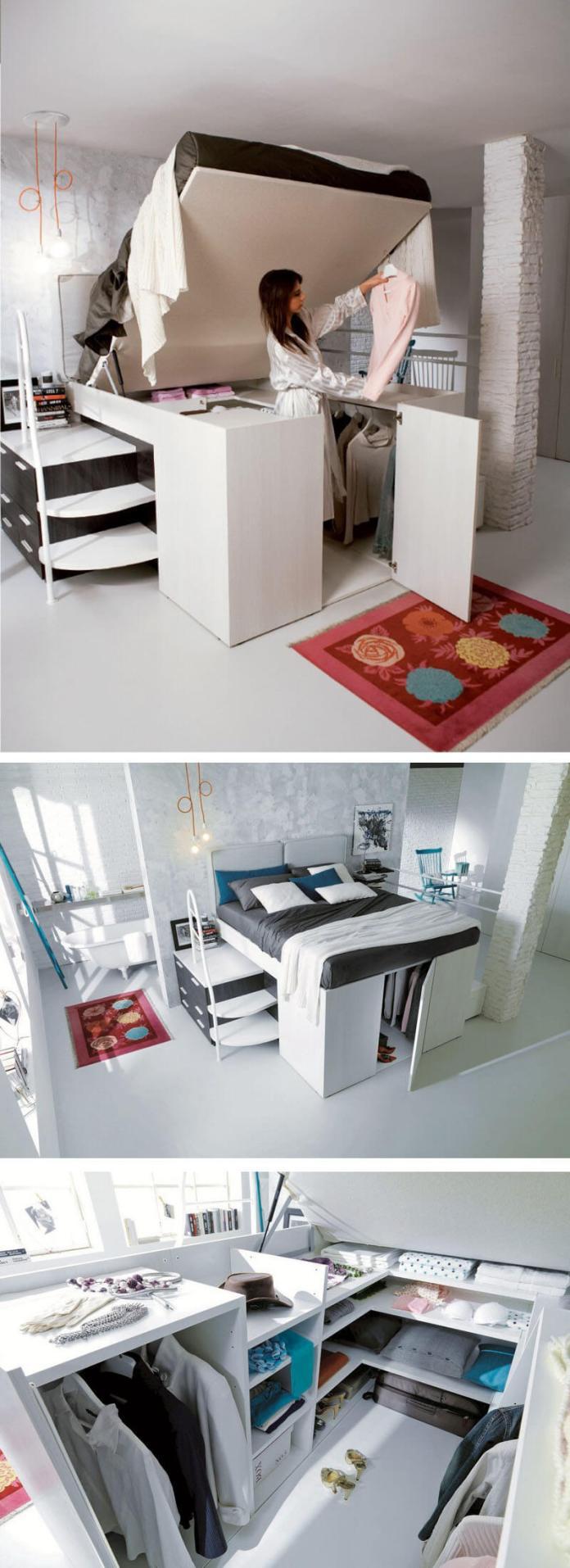 9 Bed and Closet Combo via simphome