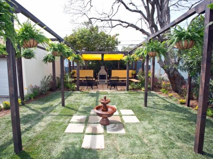 2 Bland Backyard to Outdoor Entertaining Area Via Simphome com After