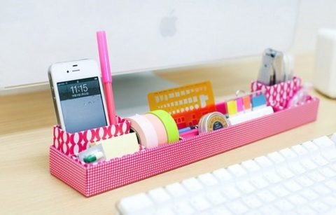 6 DIY Desk Tray via Simphome