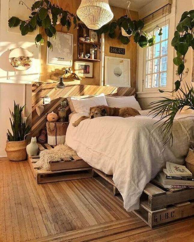 8 A Bedroom for Nature Lover via Simphome
