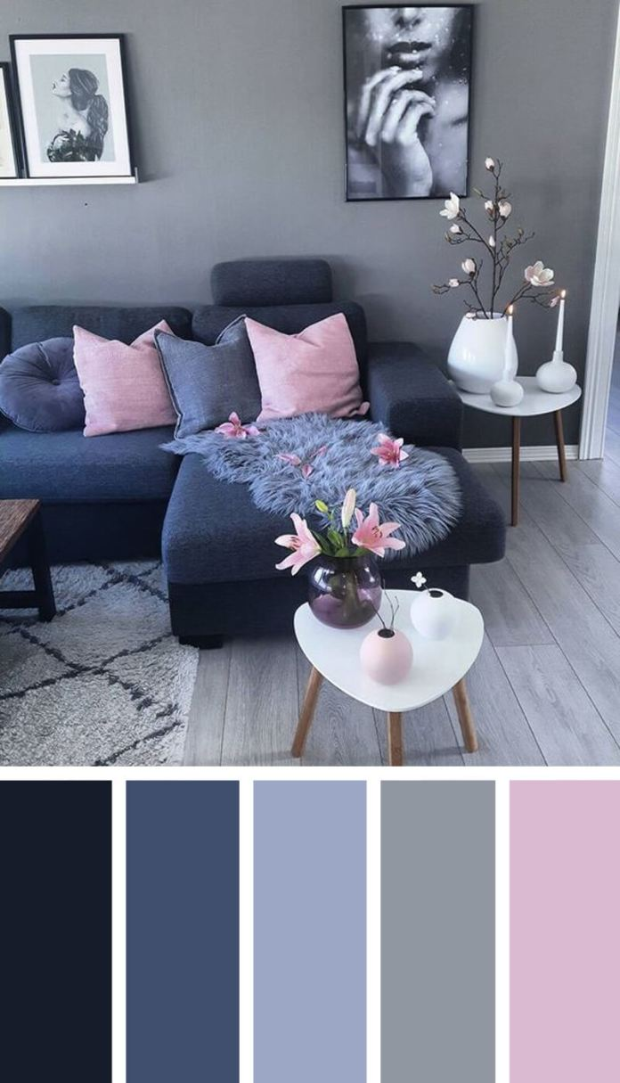 2. Relaxing Gray and Pink via Simphome