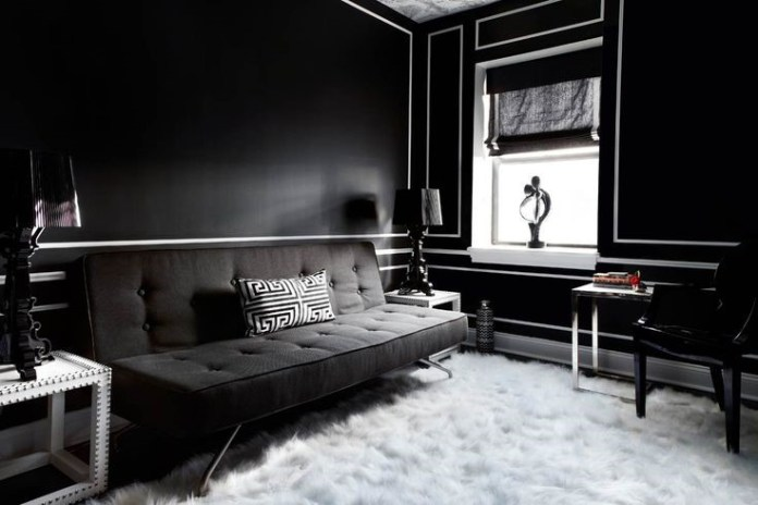 4. Go Bold with Black via Simphome