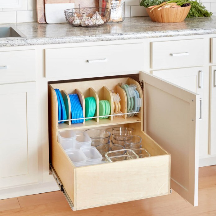 6. Pull Out Container Rack via Simphome