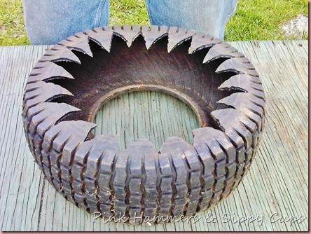 Tire as Planter via Simphome 6