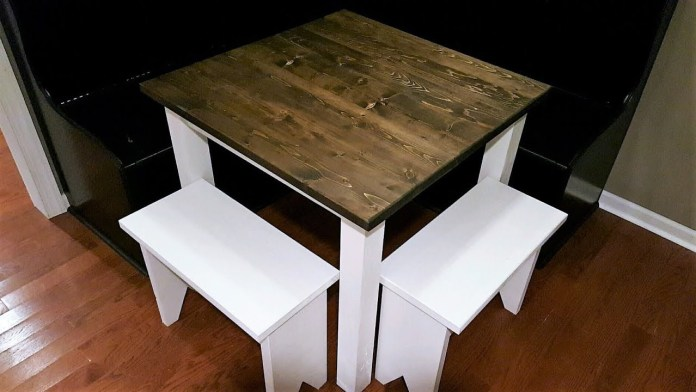 10. Small Farmhouse Dining Table via Simphome