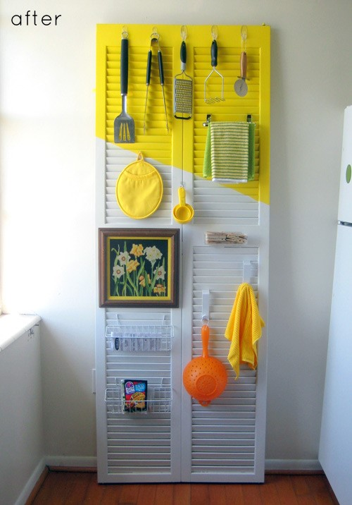 2. Kitchen Utensil Rack via Simphome