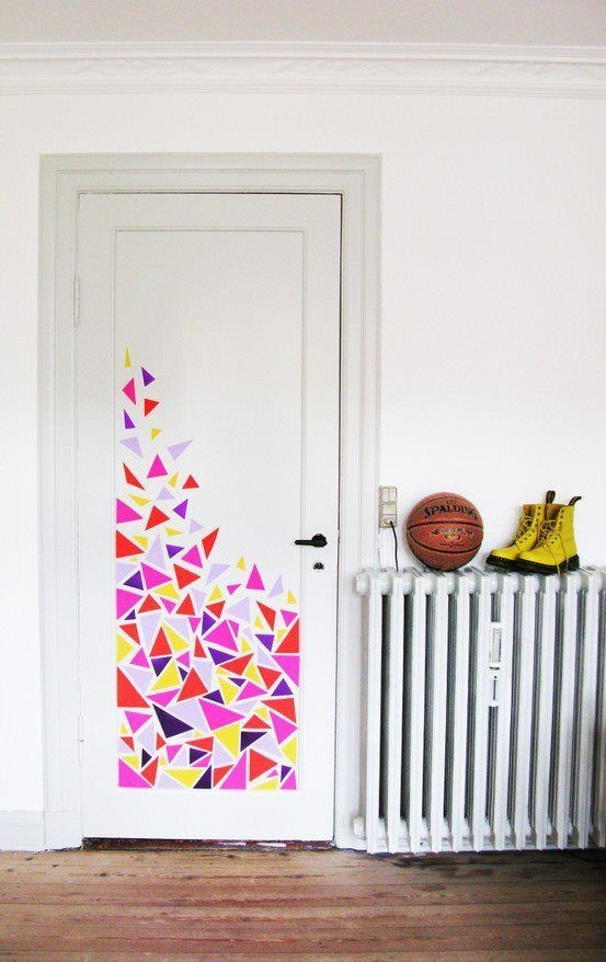 3. Abstract Washi Tape idea via Simphome