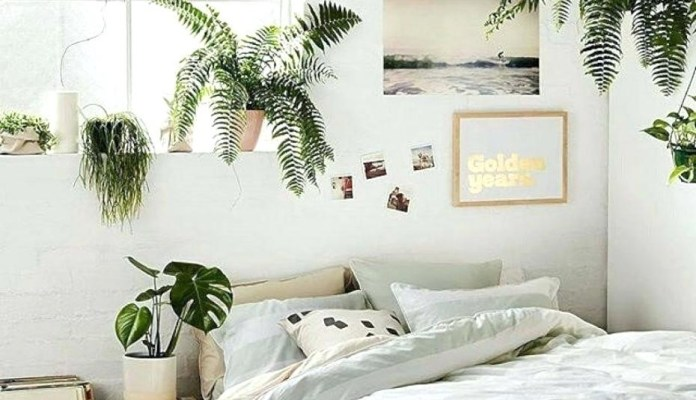 2. Upgrade Your Bedroom with Plants via Simphome