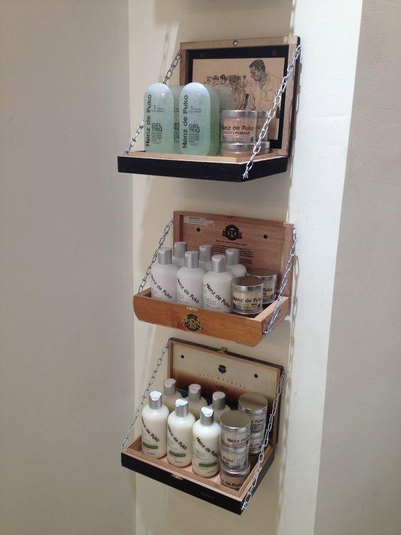 3. Bathroom Shelves via Simphome