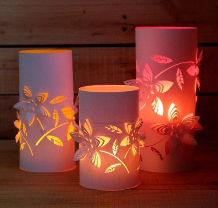 6. Colored Paper Lanterns via Simphome