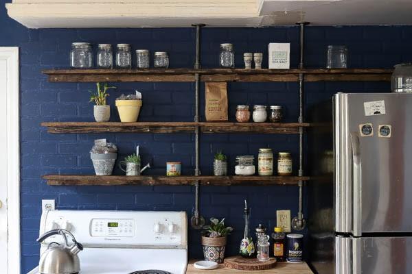 8. Galvanized Pipe Shelves via Simphome