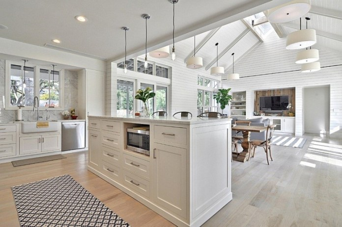9. Modern Farmhouse Style with Open Concept Kitchen via Simphome