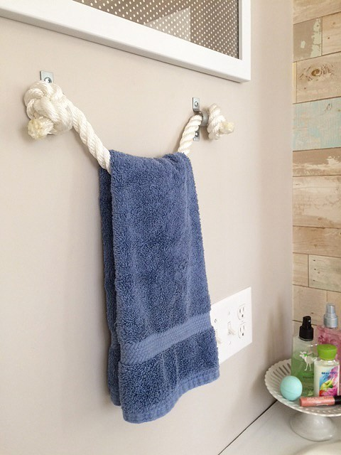 1. Rope Towel Holder via SIMPHOME.COM