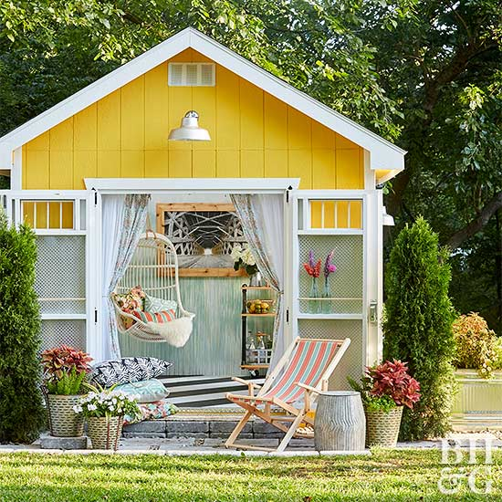 1. SIMPHOME.COM Chic Summer Garden Shed for Girls