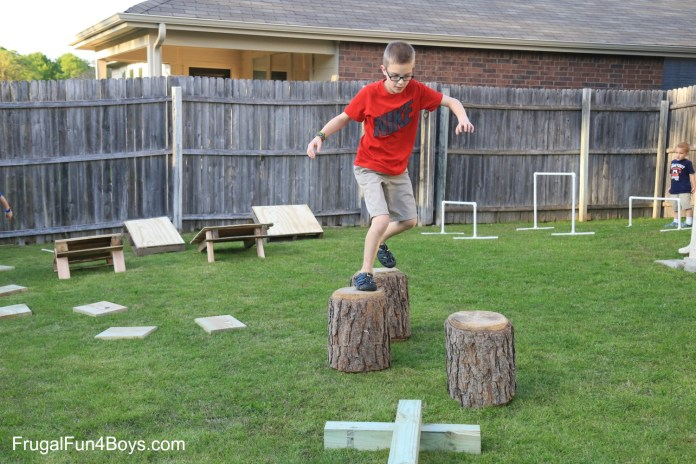 12.SIMPHOME.COM diy american ninja warrior backyard obstacle course frugal fun