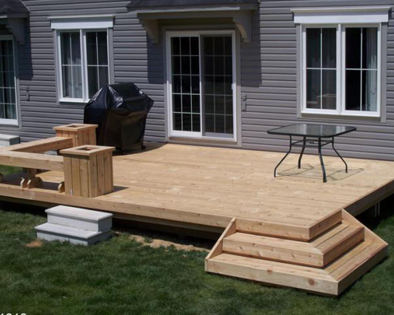 15 Ideas How To Makeover Cheap Backyard Deck Ideas Simphome