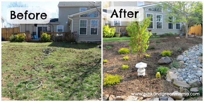 before after diy backyard makeover budget pink green tierra este inside cheap backyard makeover ideas