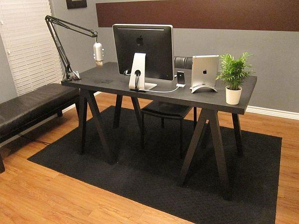 10.SIMPHOME.COM Desk with Sawhorse Legs