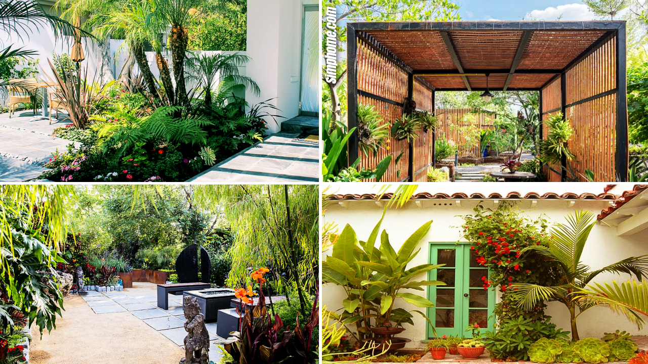 10+ Awesome Ideas How to Make Small Tropical Backyard ... on Tropical Small Backyard Ideas id=33772
