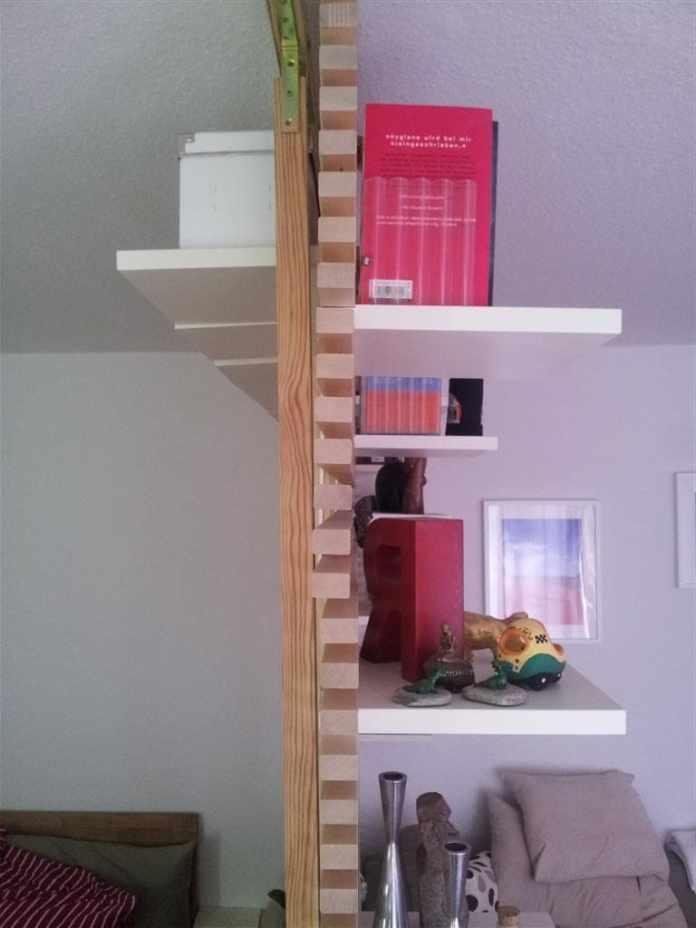 4.Simphome.com Use Shelves as a Room Divider