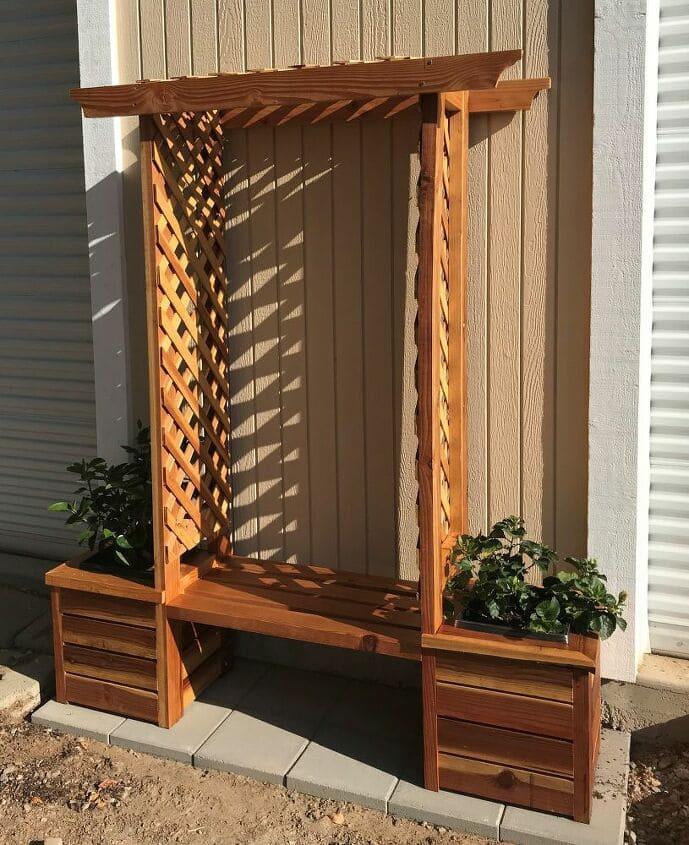 7.Simphome.com Planter Box Bench