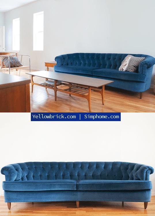 3.Simphome.com Tufted Velvet Sofa Cover project idea