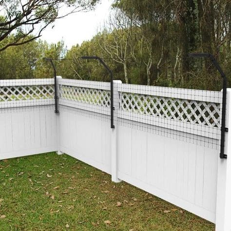 6.Simphome.com Add Height to Your Existing Fence
