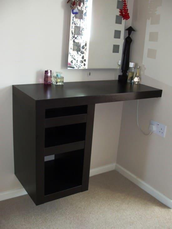 6.Simphome.com Floating Corner Dressing Table
