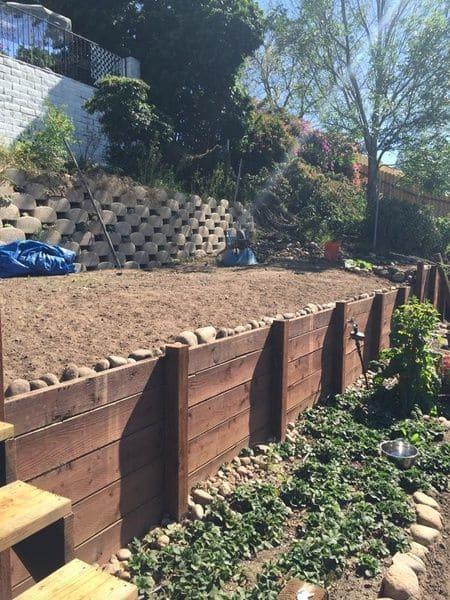 9.Simphome.com Timber Retaining Wall