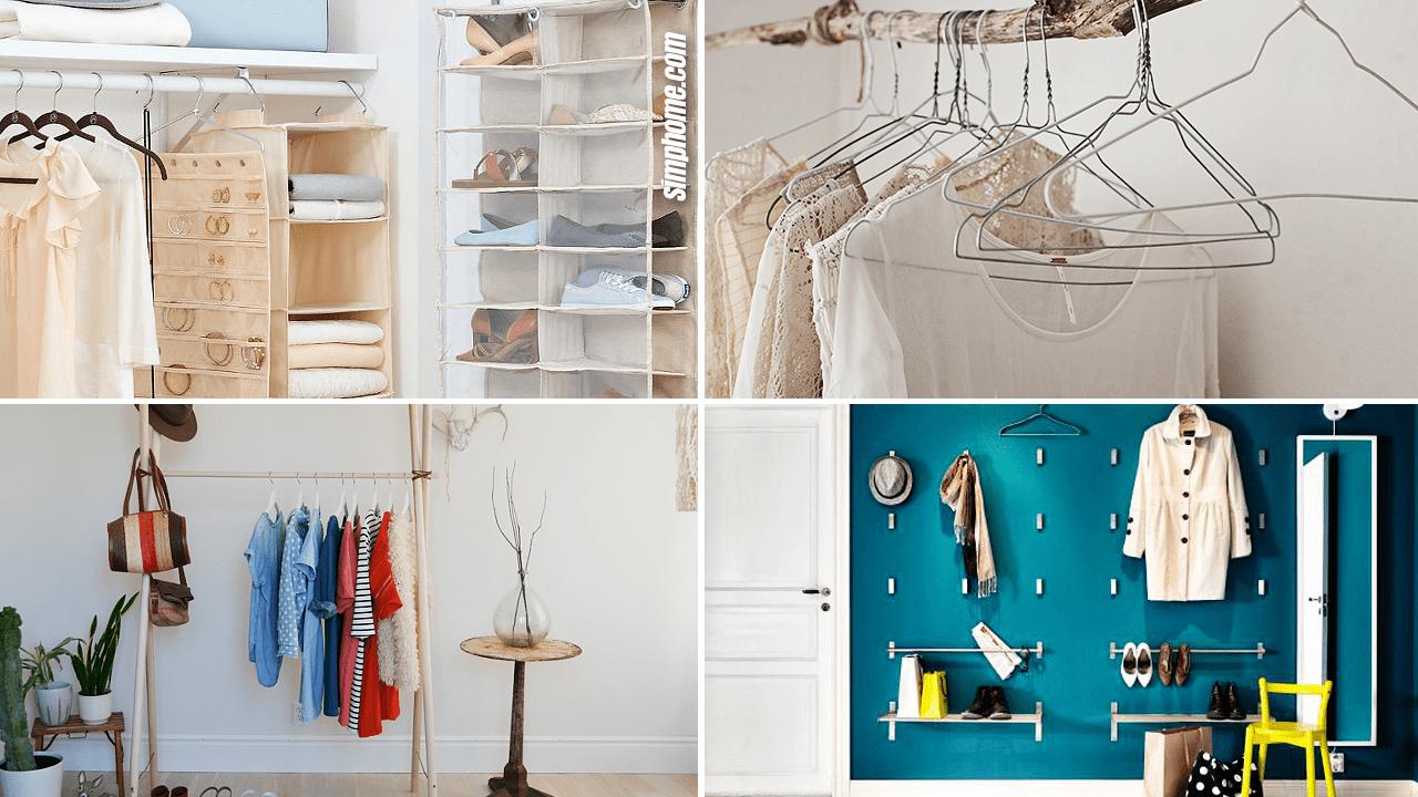 10 Diy Small Bedroom Closet Ideas And Clothing Racks Simphome