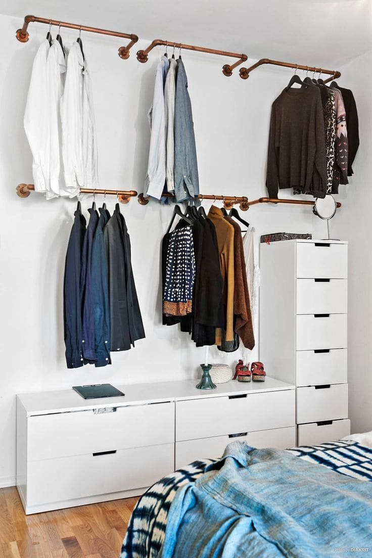 10 Clothes Storage Idea That Would Work Even Without A Closet Simphome