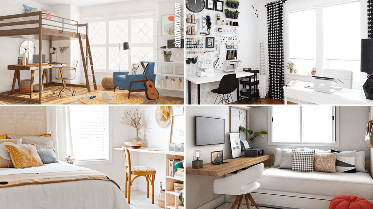 10 Small Bedroom Office Ideas Simphome