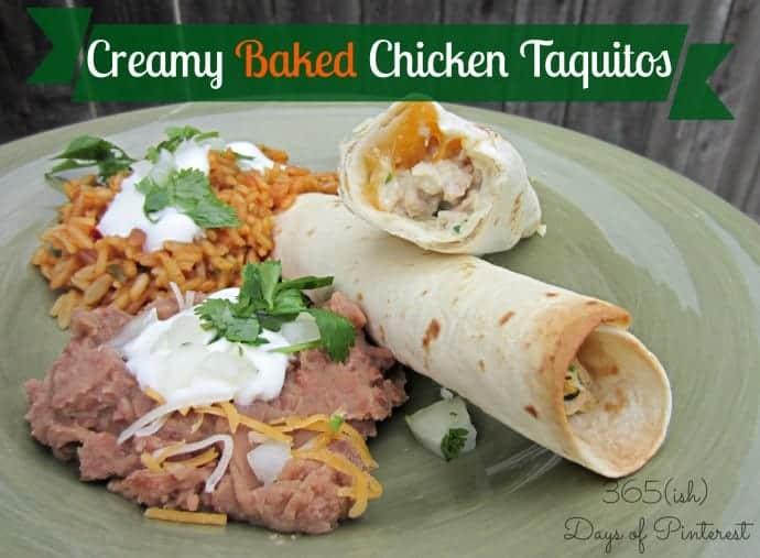 creamy chicken taquitos