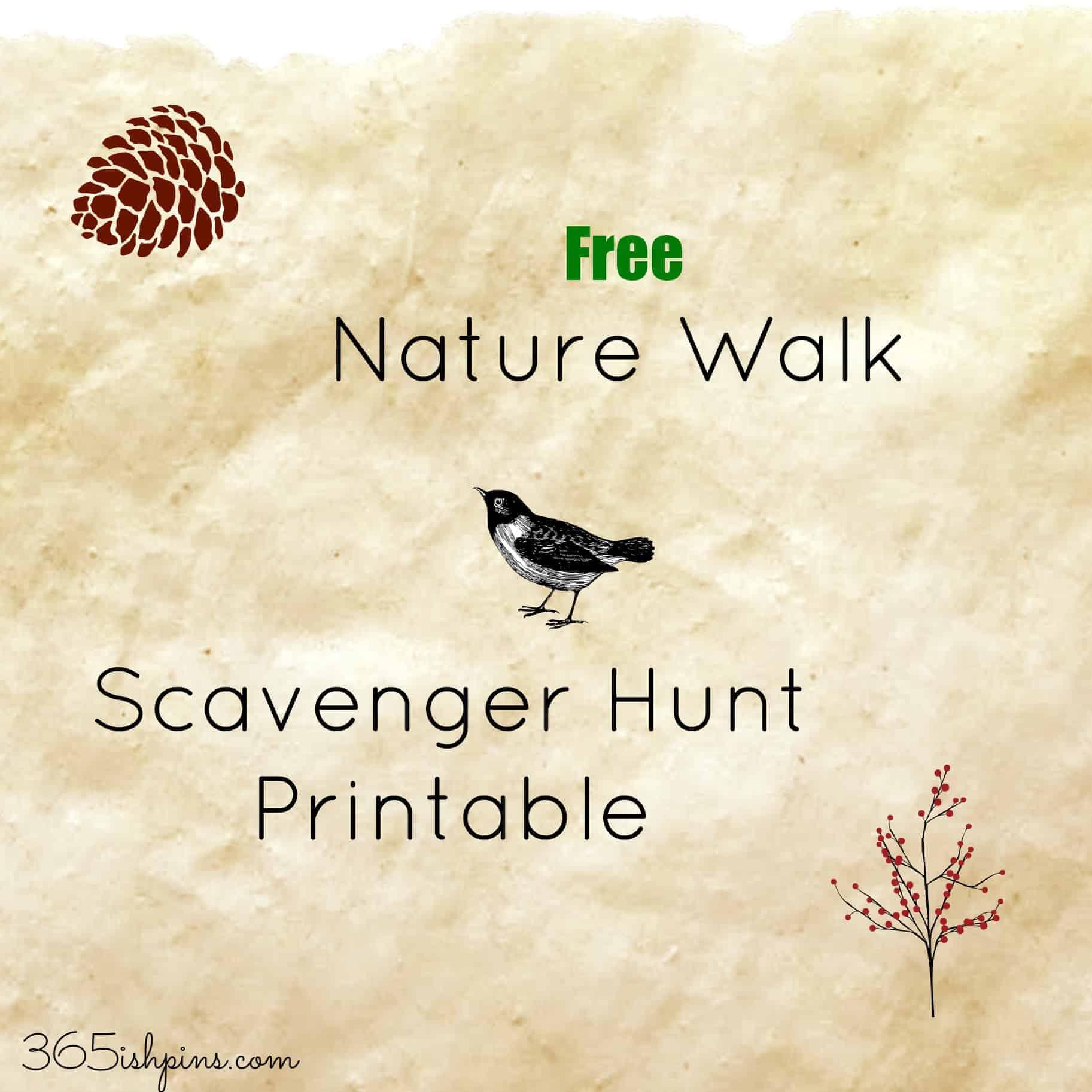 Day 328 Nature Walk Scavenger Hunt Printable