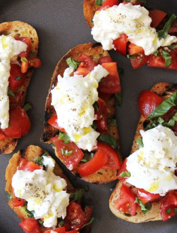 Tomato and Burrata Bruschetta