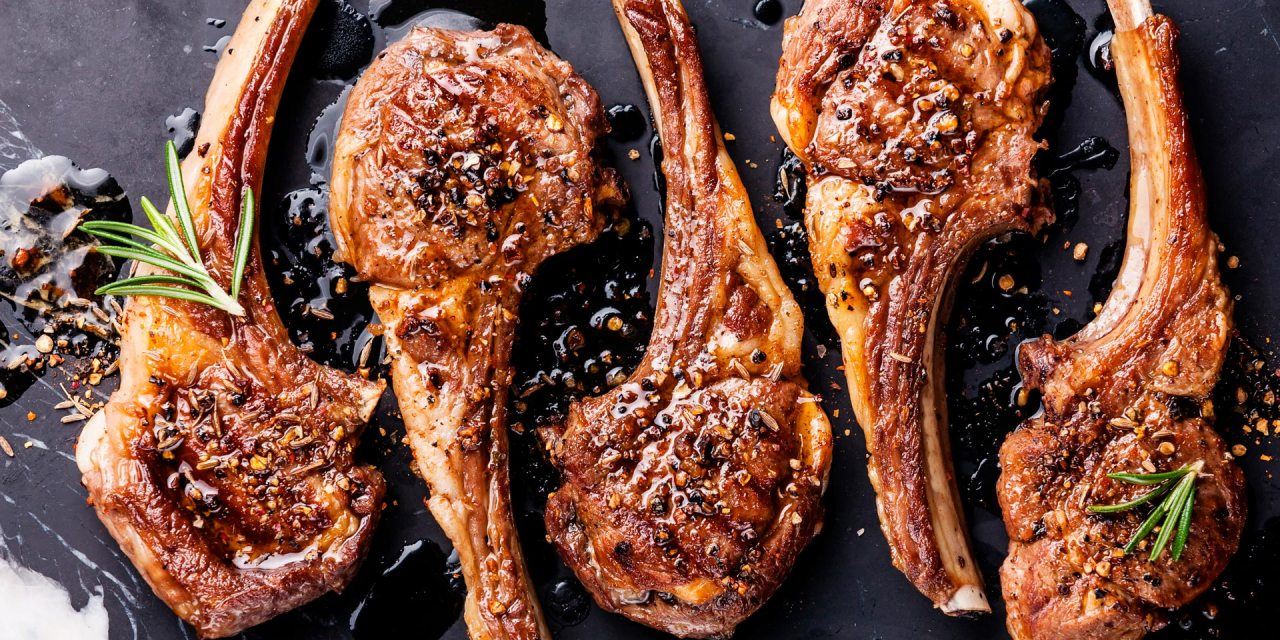 Marinated Lamb Leg Steaks