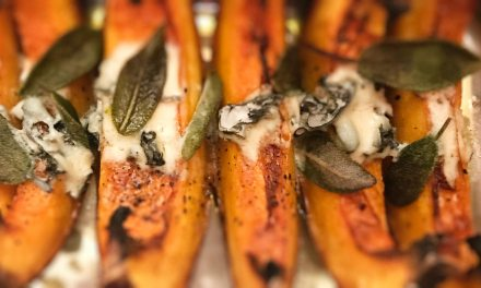 Blue Cheese and Sage Roasted Pumpkin
