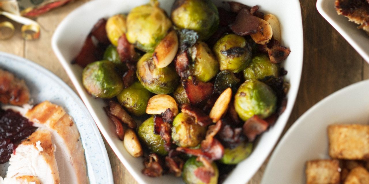 Bacon and garlic sprouts