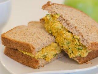 Tofu Eggless Salad Sandwich