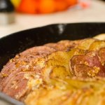 Hasselback Potatoes in a Cast Iron Pan