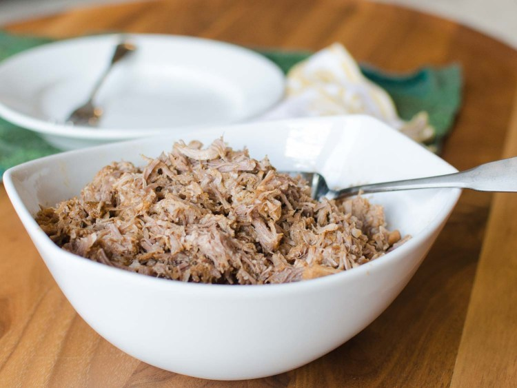 How to Make Pulled Pork without Barbecue Sauce.  Pressure Cooker Pulled Pork is ready in a fraction of the time!