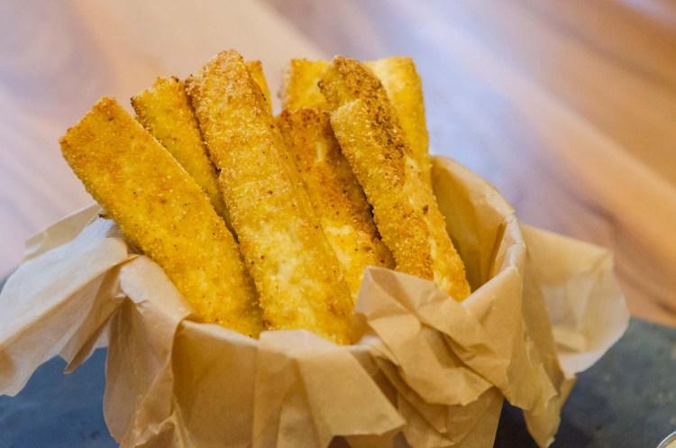 Crispy Baked Tofu Fries with Cornmeal Crust
