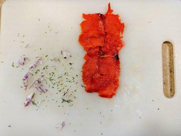 Smoked Salmon Rolls Step 1