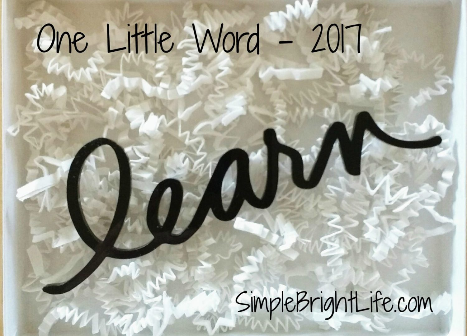 "My ""One Little Word"" for 2017"