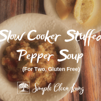 Slow Cooker Stuffed Pepper Soup (Recipes for Two)
