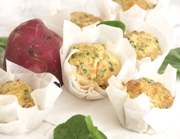Spinach and sweet potato muffins