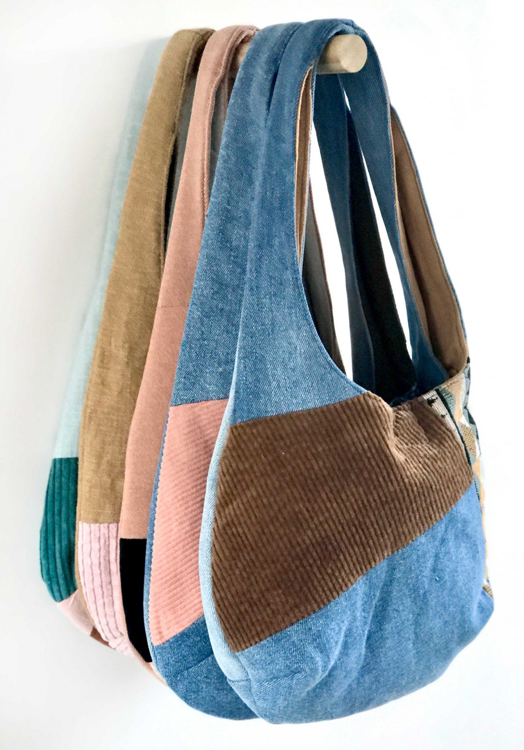 Schoudertasjes in verschillende kleuren en materialen