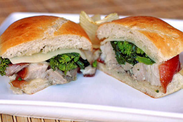 Porchetta Sandwich with Broccoli Rabe