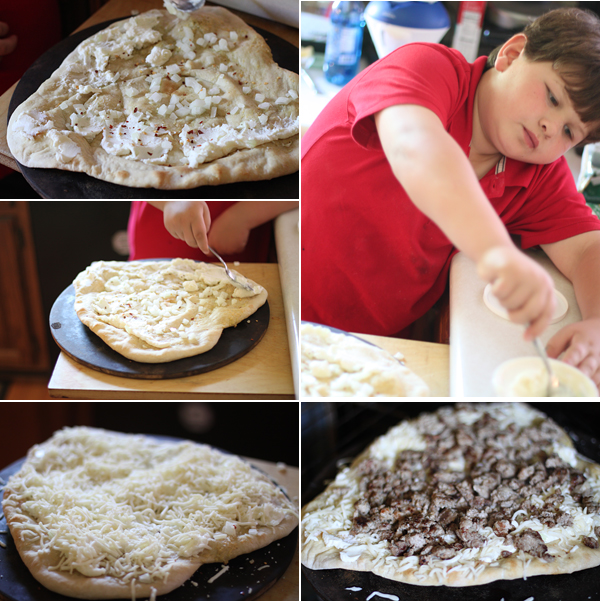 Sausage and Ricotta Cheese Pizza
